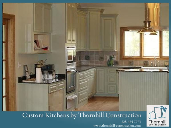 Thornhill Construction builds beautiful kitchens for Mississippi homes.