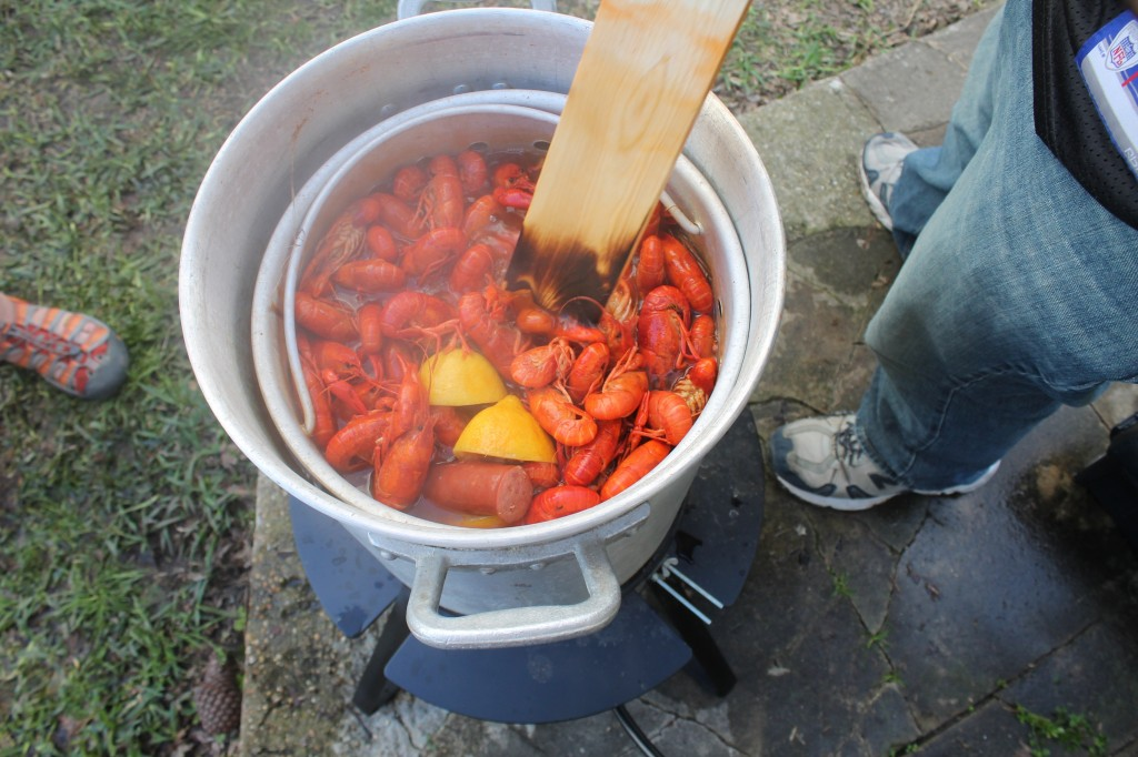 having a crawfish boil out on the coast of Mississippi is a great w
